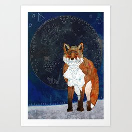 Lunar Kitsune Art Print