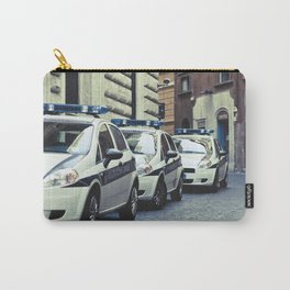 Police cars in Rome Carry-All Pouch
