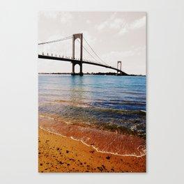 A Sunny Day at the Whitestone Bridge, New York City Canvas Print