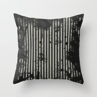 stripe Throw Pillows featuring Stripe by Ronda Bröc
