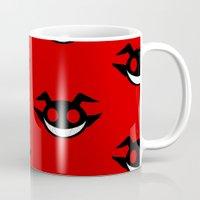 demon Mugs featuring demon by Rebecca McGoran