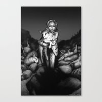 silence of the lambs Canvas Prints featuring Silence of the Lambs by Ash Merkel