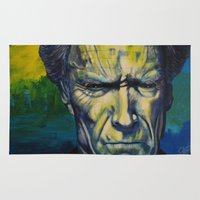 clint eastwood Area & Throw Rugs featuring Clint Eastwood by Boaz