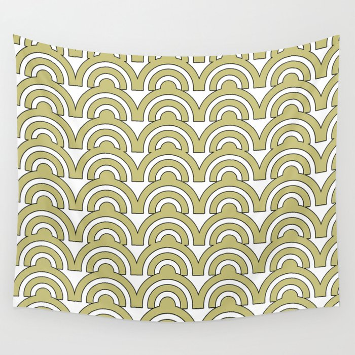 Repeating Sunrise Wall Tapestry