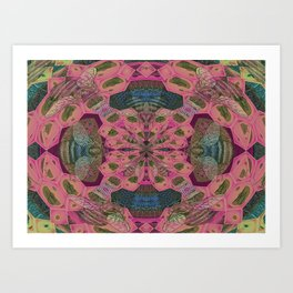 Vintage Queen Bee Mandala Art Print