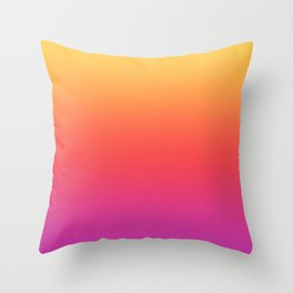 Ombre Colorful Summer Gradient Pattern Throw Pillow
