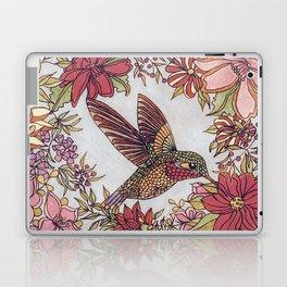 Hummingbird In Flowery Garden Wreath Laptop & iPad Skin