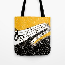 Gold music theme Tote Bag