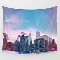 manhattan Wall Tapestries featuring Manhattan by Esco