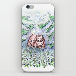 Blueberry fields iPhone Skin