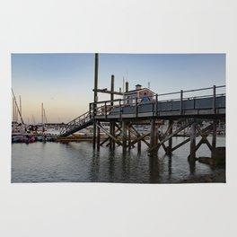 Dusk on Scituate Harbor Rug