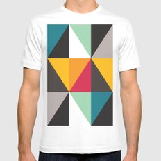 Triangles # 2 MEDIUM White Mens Fitted Tee