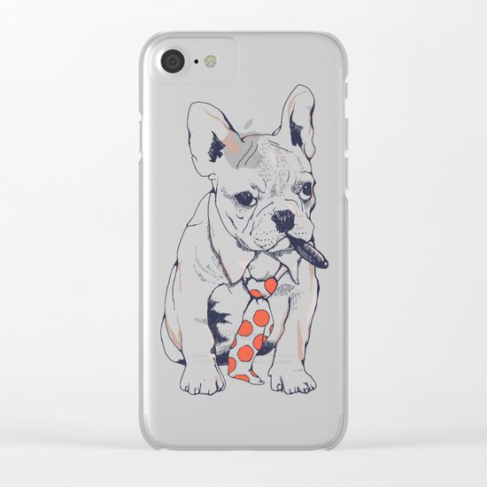FRENCH BULLDOG BOSS Clear iPhone Case