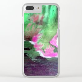 Oase Abstrakt Watercolor Digital 3 Clear iPhone Case
