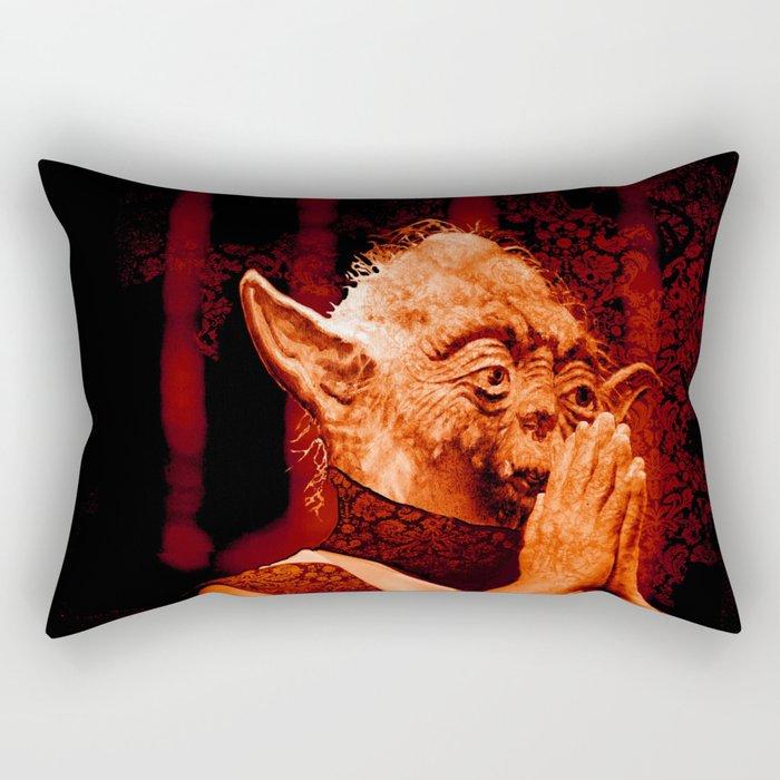 DalaiYOda - RED Rectangular Pillow