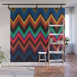 Zigzag Crochet Abstract Pattern Wall Mural
