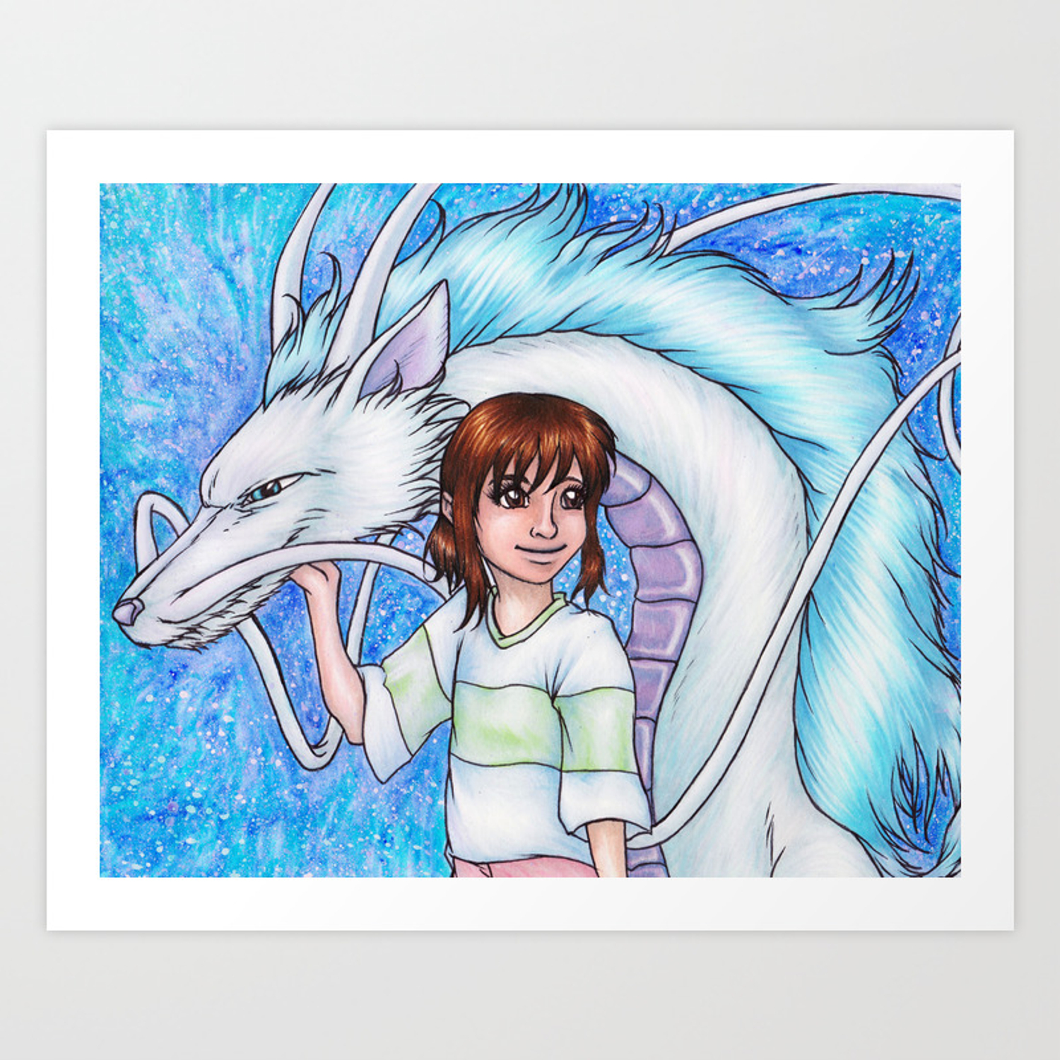 Spirited Away Chihiro And Haku Art Print By Kimcastello Society6