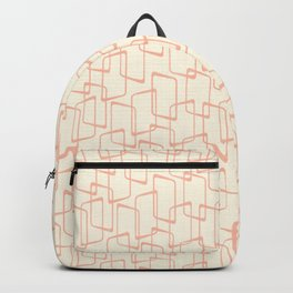 Mid Century Reverse Blush Geometric Pattern Backpack
