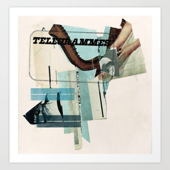 Telegrammes Art Print
