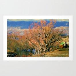 New Zealand Series - Creekside Autumn Art Print