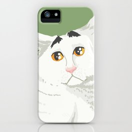 Sam the Cat with Eyebrows iPhone Case