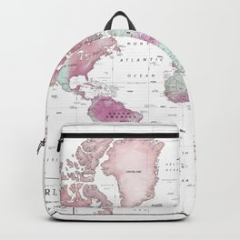 World Map Wall Art [Pink Hues] Backpack
