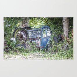 Lost car in France - Parked for eternity Rug