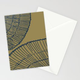Threaded (navy and ochre) Stationery Cards