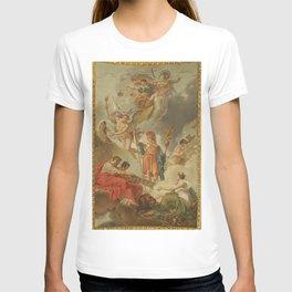Charles Meynier - La Terre recevant des empereurs Adrien et Justinien le code des lois romaines dict T-shirt