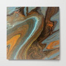 wave acrylic marble Metal Print