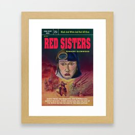 """Red Sisters"" Book Cover Framed Art Print"