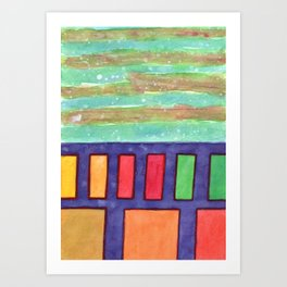Building with colorful Windows Art Print