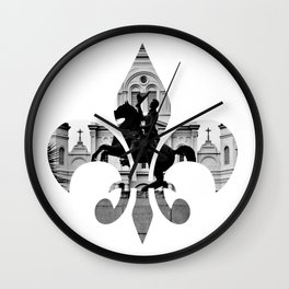 Jackson Squared - fleur de lis Wall Clock