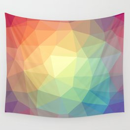 LOWPOLY RAINBOW Wall Tapestry