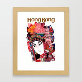 Vintage Airline Hong Kong China Travel Framed Art Print