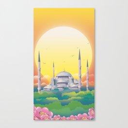 Mosque under the sun Canvas Print