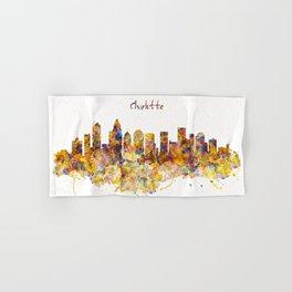 Charlotte Watercolor Skyline Hand & Bath Towel