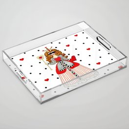 Queen of Hearts Acrylic Tray