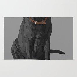 Dog Mom Black Labrador Retriever Rug