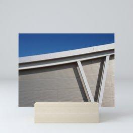 modern architecture - curve and sky Mini Art Print