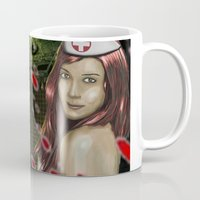nurse Mugs featuring Chaotic Nurse by dr.Mador