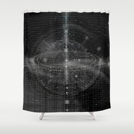 Integral Shower Curtain