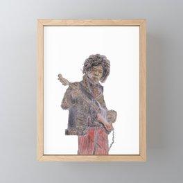 Jimi Hendrix trippy Framed Mini Art Print