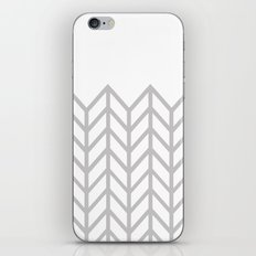 GRAY & WHITE LACE CHEVRON iPhone & iPod Skin