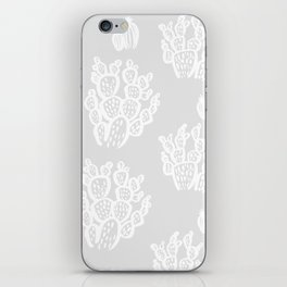 Prickly Pear Grey Cacti iPhone Skin