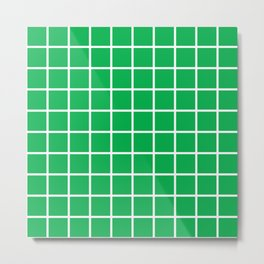 Green Grid Pattern 2 Metal Print