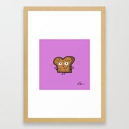 Cinnamon Raisin Toast Framed Art Print