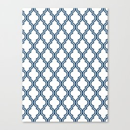 Navy Moroccan Canvas Print