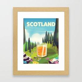 Scotland Travel poster Framed Art Print