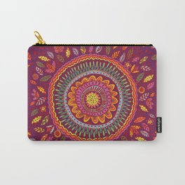 Leafy Fall Mandala Carry-All Pouch
